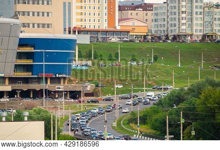 Cheboksary, Russia - 07/21/2021: View Of The Shopping Center