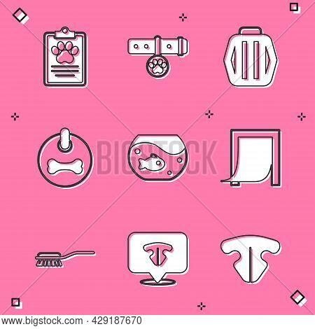 Set Clinical Record Pet, Collar With Name Tag, Pet Carry Case, Dog Collar, Aquarium Fish, Door For,