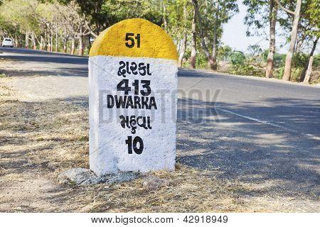 Kilometers To Dwarka Milestone