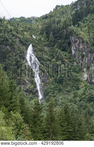 Rushing Torrent With Waterfall In Styria - Idyllic Mountain Stream, Austria