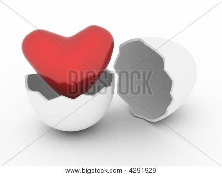 Heart In Egg