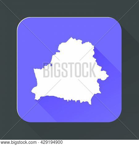 Highly Detailed Belarus Map  With Borders Isolated On Background. ..simple Flat Icon Illustration Fo