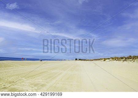 Casita Azul Beach In Isla Cristina, Huelva, Andalusia, Spain
