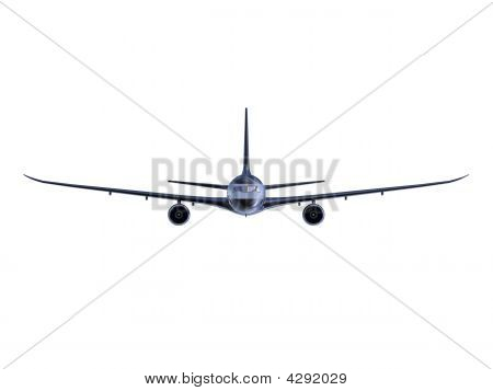 Black Aircraft Isolated View