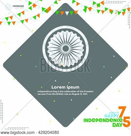 15th August Happy Independence Day India Illustration.
