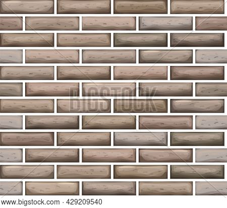 Brick Work Icon Isolated Of Flat Style. Vector Illustration Seamless.