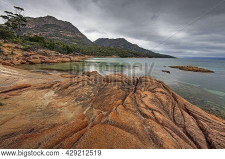 Coles Bay Mountains In Tasmania In Australia