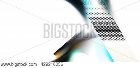 Background Hexagons Abstract, White Digital Futuristic Minimalism. Hex Texture Surface, Honeycomb Te