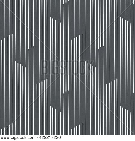 Linear Vector Pattern, Repeating Three And Five Of Lines Group On Dark Background. Pattern Is Clean