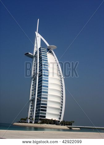 Seven stars hotel Burj Al Arab in Dubai, UAE