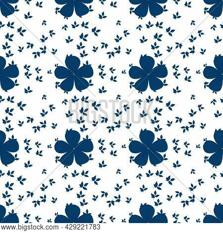 Hand Drawn Seamless Repeat Pattern, Vector Repeat Pattern For Textile, Gift Wrapper, Product Packagi