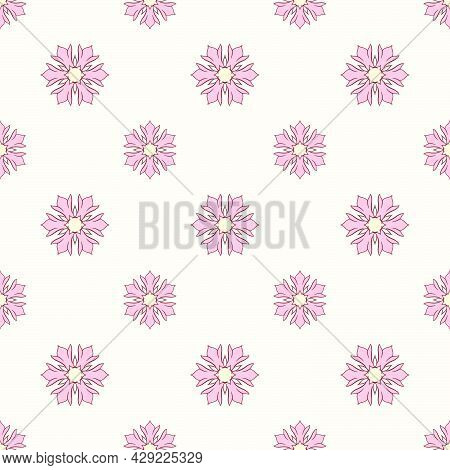 Colorful Hand Drawn Seamless Pattern. Repeat Pattern For Packaging, Gift Wrapper, Textile, Fabric, C