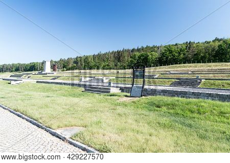 Rogoznica, Poland - June 3, 2021: The Place Where There Was Blocks In The Former Nazi Concentration