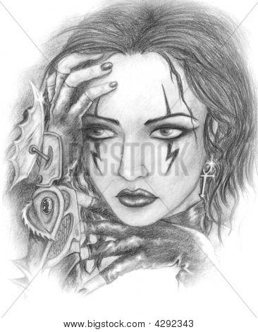 Gothic Girl Sad