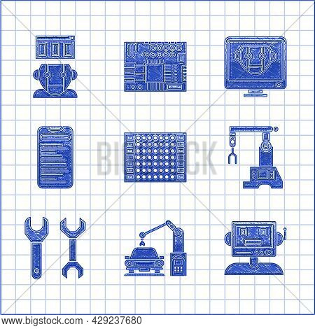 Set Printed Circuit Board Pcb, Industrial Machine Robotic Robot Arm Hand, Robot, Assembly Line, Span