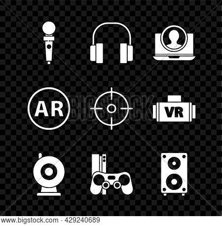 Set Joystick For Arcade Machine, Headphones, Create Account Screen, Web Camera, Game Console With Jo