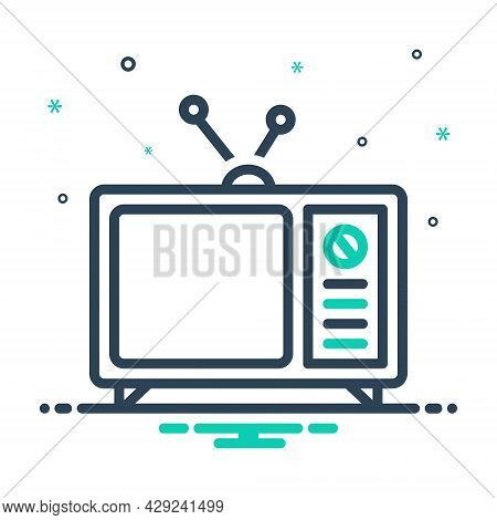 Mix Icon For Tv Antenna Television Vintage Broadcast Broadcasting Channel Display Electrical Enterta
