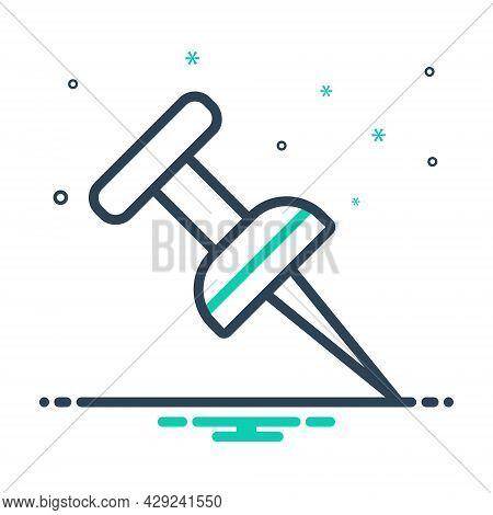 Mix Icon For Location-pin Pushpin Attach Clip Pinned Thumbtack Bulletin Paper-pin Attachment Fixatio