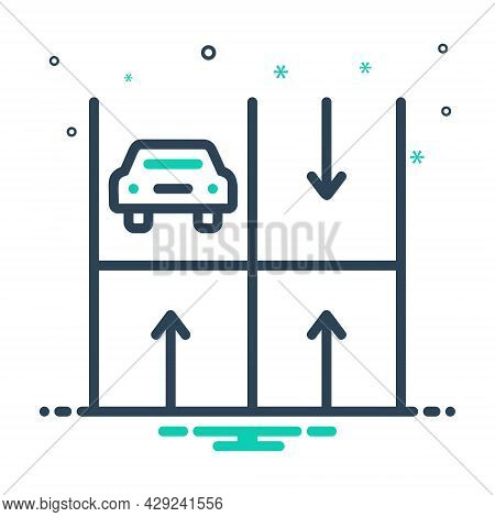 Mix Icon For Parking Haunt Base Stand Perch Haunt Roadsign Vehicle Place Transport Zone