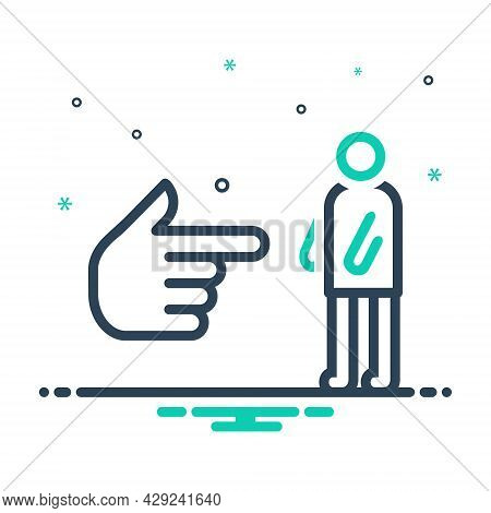 Mix Icon For You Me Self Onself Himself Herself Hand Direction
