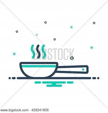 Mix Icon For Frying-pan  Pan Dripping-pan Skillet  Saucepan  Vessel Porringer Sweep Swing Separate F
