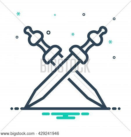 Mix Icon For War Sword Battle Fight Fighting Struggle Weapon  Violence