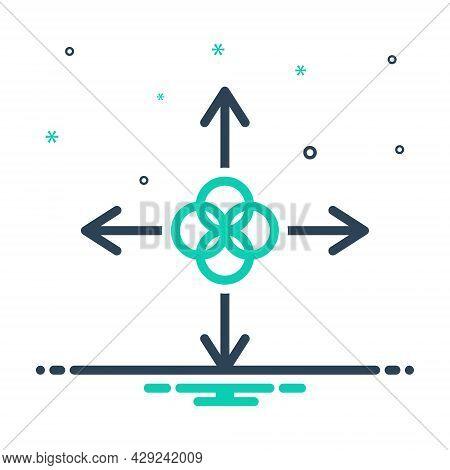 Mix Icon For Join Unite Arrow Direction Modulate Harmonize Frit Liken