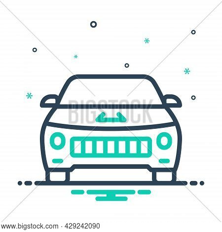 Mix Icon For Vehicle Conveyance Carriage Transportation Automobile Car Cabriolet Travel