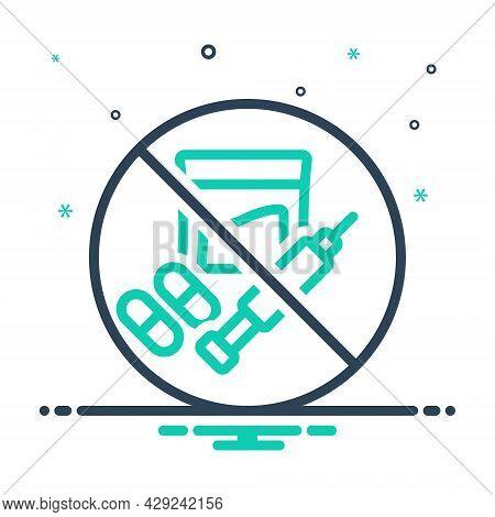 Mix Icon For Illegal Banned Criminal Illegitimate Unlicensed Illicit Prohibited Unlawful Wrongful