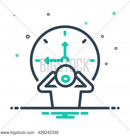 Mix Icon For Late Tardily Slow Backward Behind-time  Overdue Out-of-luck Dilatory