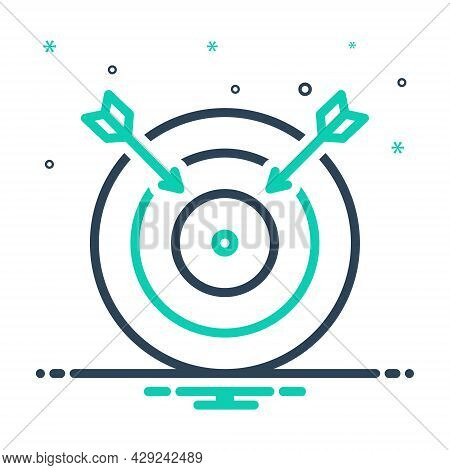 Mix Icon For Fail Lapse Default Muff Gaffe Bloomer Mistake Darts Arrows Target Darts-board  Goal