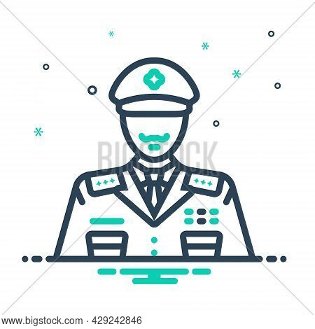 Mix Icon For General Widespread Police Man Policeman Officer Avatar Detective Enforcement