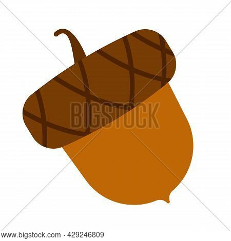 Acorns, Vector Icon And Illustration. Aumutn And Hello Fall. Eps10
