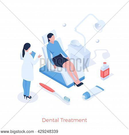 Dental Treatment And Prophylaxis. Dentist Examines Patients Mouth. Stomatology And Therapy Of Teeth