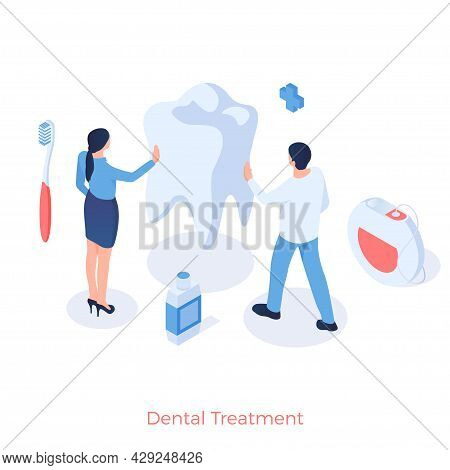Dental Treatment And Prophylaxis. Oral Cavity And Removal Calculus. Stomatology Whitening Enamel And
