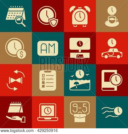 Set Time Flies On The Clock, For Book, To Travel, Alarm, Morning Time, Is Money, Calendar Search And