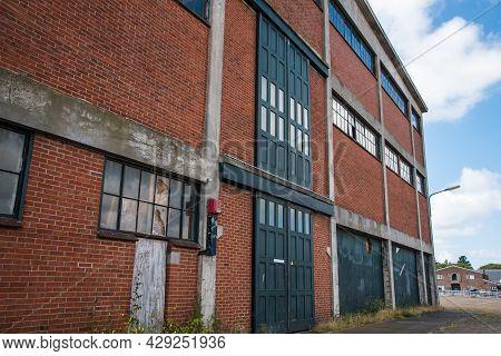 Den Helder, The Netherlands. August 2021. Old Warehouses At The Former Shipyard In Den Helder, Holla