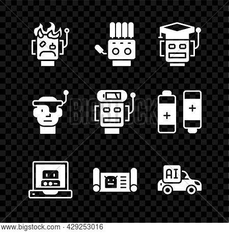 Set Robot Burned Out, Mechanical Robot Hand, Creating, Blueprint, Autonomous Smart Car, Smart Glasse