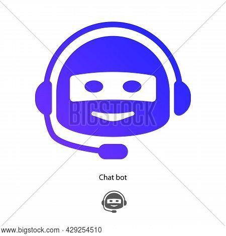 Chat Bot Symbol Isolated On White Background For Virtual Assistant Icon, Talk Bubble Speech Icon, Di