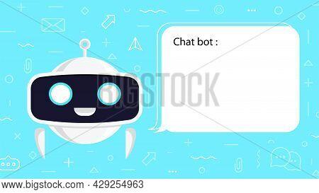 Chat Bot Concept Illustration For Virtual Assistant, Talk Bubble Speech, Digital Marketing, Chat App
