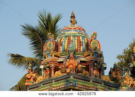 Traditional Hindu temple South India Kerala