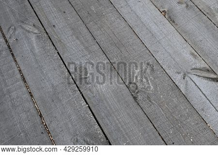 Old Light Grey Panel Wood Texture For Backgrounds. Softwood Rotten Boards. Real Natural Wooden Board