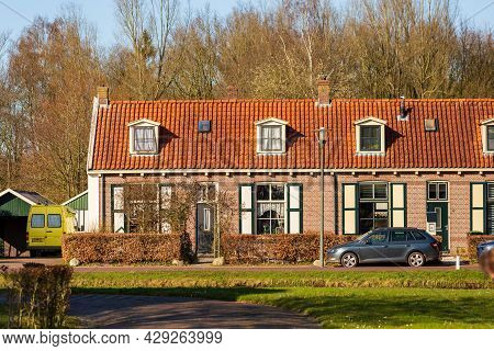 Veenhuizen, The Netherlands - April 16, 2021: Historic Site Veenhuizen With Historical Buildings And