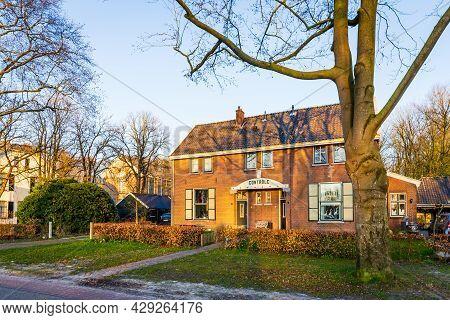 Veenhuizen, The Netherlands - April 16, 2021: Historic Site Veenhuizen With Historical Building Name