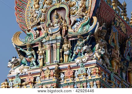 Madurai Tamil Nadu India March 11 2011. Meenakshi hindu temple.