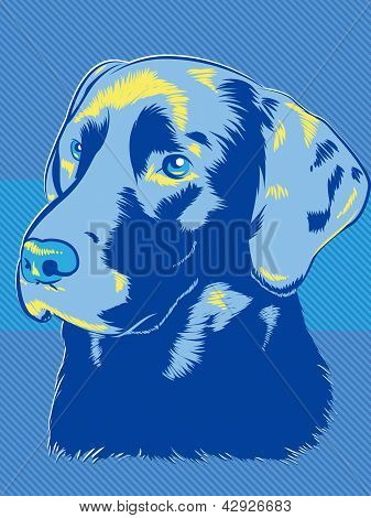 Blue Dog Illustration