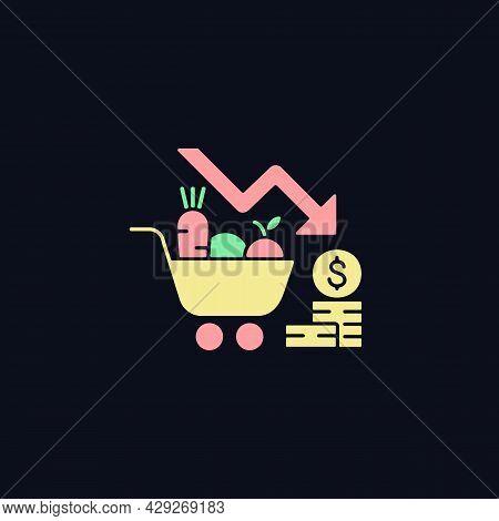 Marketing Risks Rgb Color Icon For Dark Theme. Financial Failure. Consumer Preferences Affect Sales.