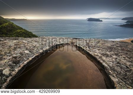 A Puddle On A Mountain Overlooking Pearl Beach
