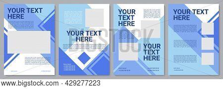 Blue Advertising Brochure Template. Business Service. Flyer, Booklet, Leaflet Print, Cover Design Wi
