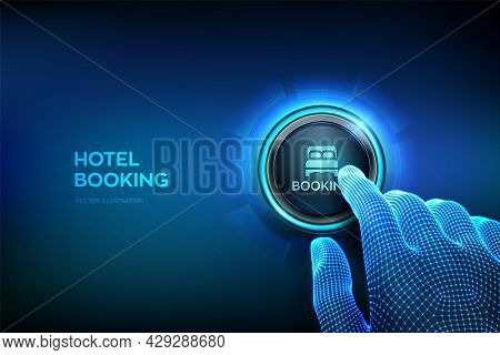 Hotel Booking. Online Reservation. Mobile Application For Renting Accommodations. Travel And Tourism